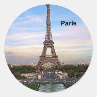 Eiffelturm Frankreichs Paris (neu) (St.K) Runde Aufkleber