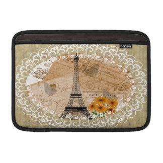 Eiffelturm-Franzose-Postkarten MacBook Air Sleeve