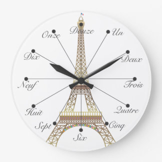 Eiffelturm-große Wanduhr