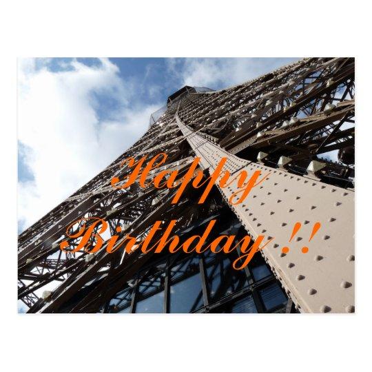 Eiffelturm in Paris Geburtstagskarte Postkarte