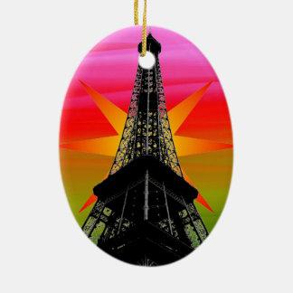 Eiffelturm Keramik Ornament