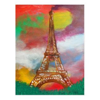 Eiffelturm-Malerei Postkarte