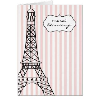 Eiffelturm Merci Beaucoup Karte