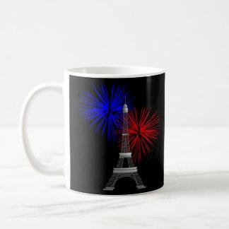 Eiffelturm mit Feuerwerken Kaffeetasse
