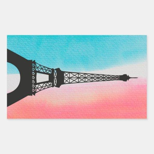 Eiffelturm, Paris Rechteckige Sticker