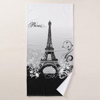 Eiffelturm Paris (B/W) Bad-Tuch Badehandtuch