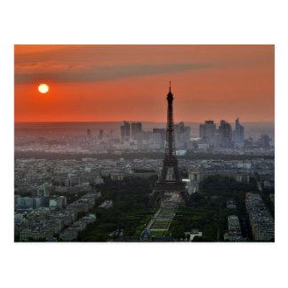 Eiffelturm, Paris durch Sonnenuntergang Postkarte