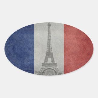 Eiffelturm, Paris Frankreich Ovaler Aufkleber