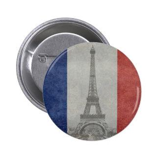 Eiffelturm, Paris Frankreich Runder Button 5,7 Cm