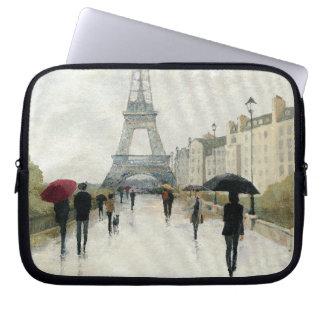Eiffelturm | Paris im Regen Laptopschutzhülle