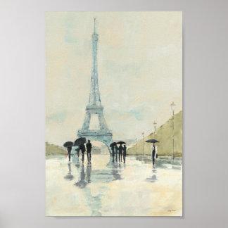 Eiffelturm   Paris im Regen Poster