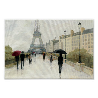 Eiffelturm | Paris im Regen Poster
