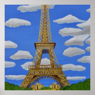 Eiffelturm-Plakat Poster