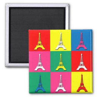 Eiffelturm Quadratischer Magnet