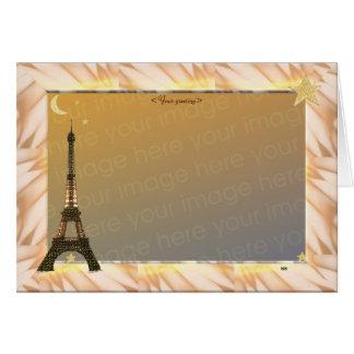 Eiffelturm, Schablone Karte