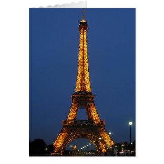 Eiffelturm-Schönheit Grußkarte