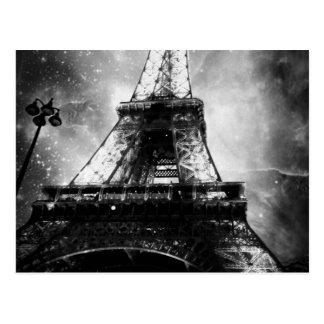 Eiffelturm, Schwarzweiss Postkarte