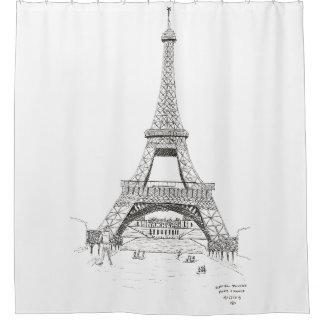 Eiffelturm-Skizze, Paris, Frankreich 1905 Duschvorhang
