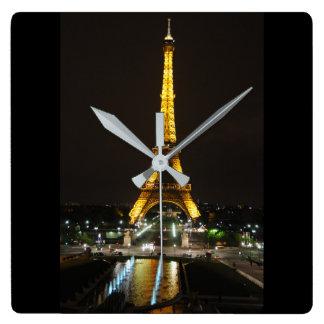 Eiffelturm-Uhr Quadratische Wanduhr