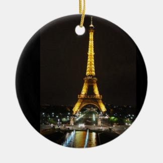 Eiffelturm-Verzierung Rundes Keramik Ornament