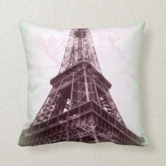Eiffelturm-Wurfs-Kissen in Grünem und in Blumen Kissen