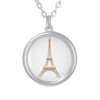 Eiffelturmhalskette Versilberte Kette