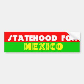 Eigenstaatlichkeit für Mexiko Autoaufkleber