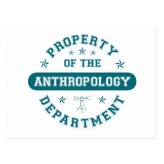 Eigentum der Fachbereich Anthropologie Postkarte