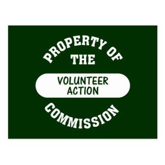 Eigentum der freiwilligen Aktions-Kommission Postkarte