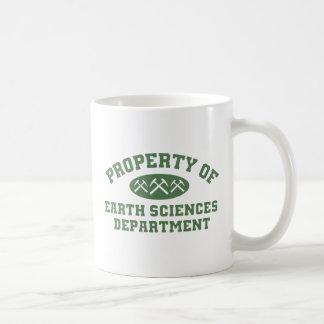 Eigentum der Geowissenschafts-Abteilung Kaffeetasse