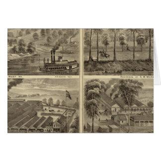 Eigentum der Hartford-Stadt-Kohle und des Salzes Karte