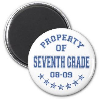 Eigentum des 7. Grades Runder Magnet 5,1 Cm