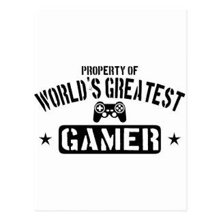 Eigentum des beststen Gamer der Welt Postkarte