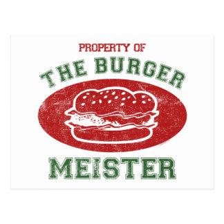 Eigentum des Burgers Meister Postkarte