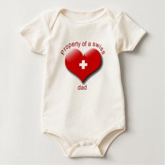 Eigentum des Schweizer Vatis Baby Strampler
