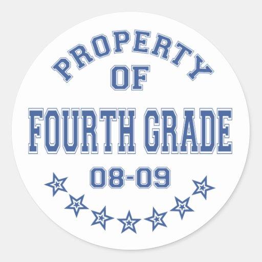 Eigentum des vierten Grades Runde Aufkleber