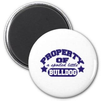 Eigentum einer Spolied Bulldogge Runder Magnet 5,1 Cm