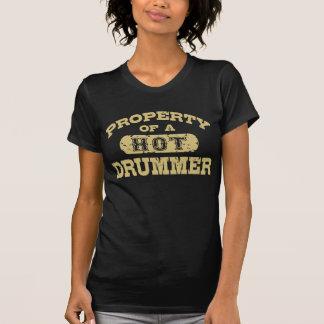 Eigentum eines heißen Schlagzeugers T-Shirt