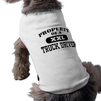 Eigentum eines LKW-Fahrers Ärmelfreies Hunde-Shirt