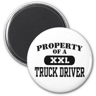 Eigentum eines LKW-Fahrers Runder Magnet 5,1 Cm