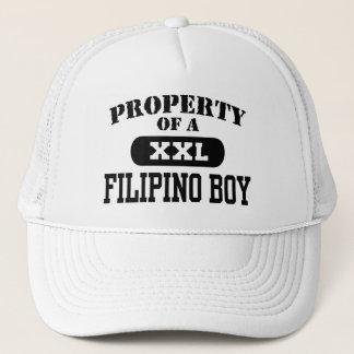 Eigentum eines philippinischen Jungen Truckerkappe