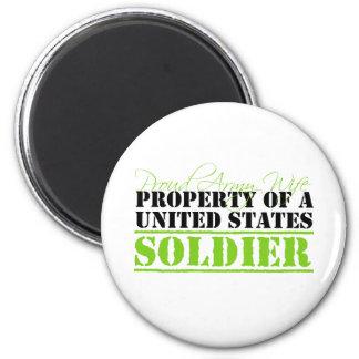Eigentum eines Soldaten Runder Magnet 5,1 Cm