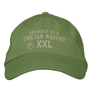 Eigentum eines tibetanischer Mastiff-gestickten Bestickte Kappe
