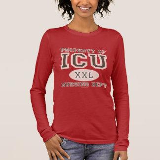 Eigentum ICU Krankenschwester-des langen Langarm T-Shirt