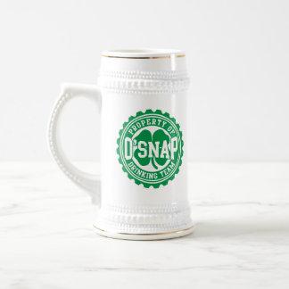 Eigentum O'snap irischen trinkenden Teams Bierglas