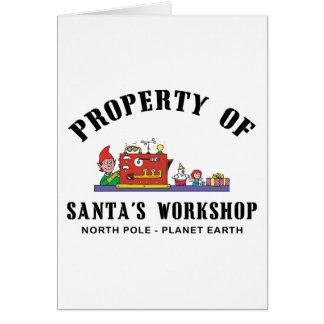 Eigentum Sankt des Werkstatt-Geschenks Karte