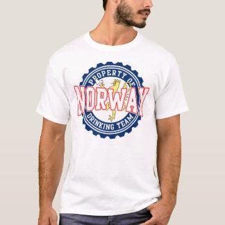 Eigentum trinkenden Teams Norwegens T-Shirt