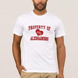 Eigentum von Alessandro T-Shirt