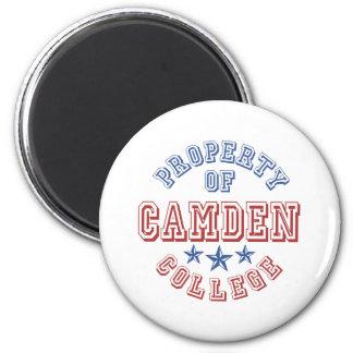 Eigentum von Camden-Uni Runder Magnet 5,1 Cm