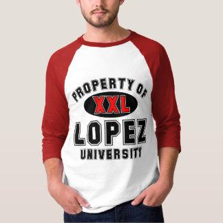 Eigentum von Lopez-Universität T-Shirt